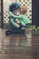 A kiss in the rain by IcarusLoveMedley