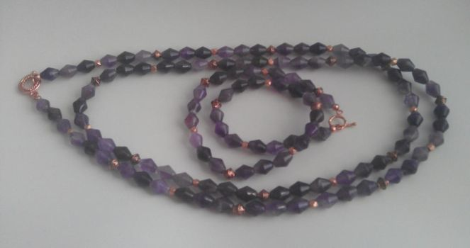 Amethyst Necklace and Bracelet by Valhallia