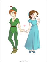 Peter pan and Wendy by Chpi