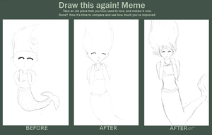 Mermaid girl Before and Afters by tintedslightly
