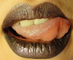Lip Study: Dark Lip, Tongue 2 by PeacefulSeraph