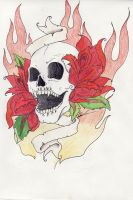 vampire skull tattoo design by ravencry