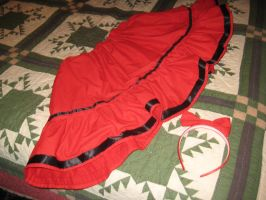 Red lolita skirt by norbertrox