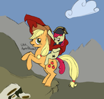 Apple Bloom Crossing the Alps by Troggle