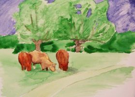 Cows by the Cam by kairanie