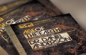 Age of the Earth Church Flyer and CD Template by loswl