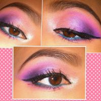 Pink and Purple Eyeshadow by KLRainbow