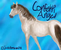 #012 BWS Confetti Angel by jackiehorse