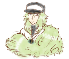 Pokemon | N Harmonia Sketch by SpanishPandaHero