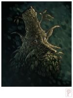 Garden Ghost Head by Papierpilot