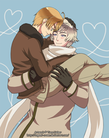 Hetalia - Thank You Hug by Tagami-Crown
