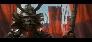 Samurai sketch by MitchellMohrhauser