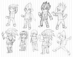 Human Sonic Rivals plus Amy by ProfessorZolo