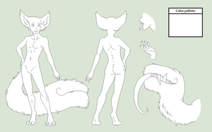Male Tailmout Ref Base - MS Paint Version by Shadow-Bases