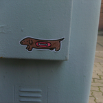 Sticker - Dachshund by Spank-the-racoon