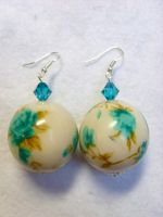 Vintage Flower Pattern Earring by kickthebucket