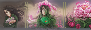 Blossoming peony... - The Transformation Challenge by VisAnastasis