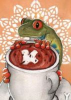 Cacao Frog ACEO by Sternen-Gaukler