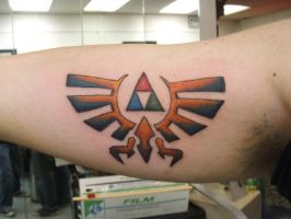 zelda tattoo by thelittlered