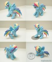 Miniature Rainbow Dash Sculpture Updated by MoogleGurl