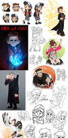 Gravity Falls Art Dump by Nightrizer