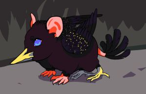 Mouse/starling Gryphon by kchuu