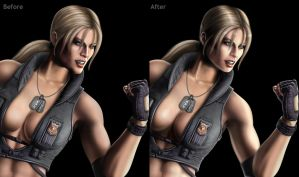 Mortal Kombat 9 Sonya Fix by mynando