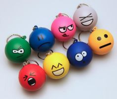Emoticon Keychain Full Set by DeviantArtGear