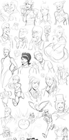 Sketch Dump by JamieKinosian