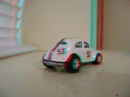 Hot Wheels Herbie 3D Rear View by LittleBigDave