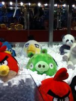 Angry Birds plushes from the crane game! by Gallade007