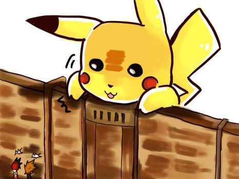 When ...Pikachu is Titan by time-season