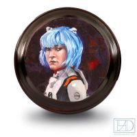 MiniPainting Rei Ayanami by LucasDurham