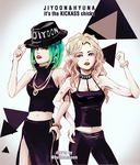 4minute jiyoon and hyuna by buttermooon