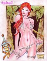 RED SONJA by RODEL MARTIN (08172013) by rodelsm21
