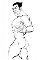 Naked Namor by TJWood-UK