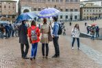 Umbrelas in Sienna Piazza del Campo by Rikitza