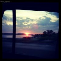 Window Sunset by Wingreader