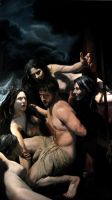 Odysseus and the Sirens by catphrodite
