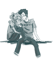 Sketch: Percabeth 21-10-2013 by Luciand29
