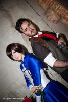 Elizabeth and Booker from Bioshock infinite by VeroEs