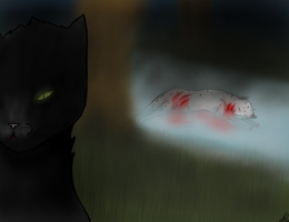 Ashfur's death by xXSapphira-wolfXx