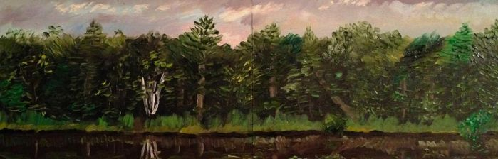 Eau Claire River Diptych Study by Goalie89