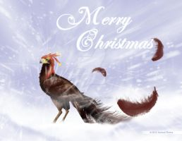 Christmas Phoenix Card by SamuelDesigns