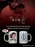 X-Files Never Again coffee mug advertising by rickymanson