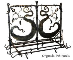 Organic pot rack by artistladysmith