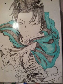 Levi Attack on Titan  by 10fang711