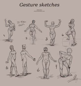 Gesture sketches by Inevva