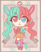 Color Split Bun girl OFFER TO ADOPT -CLOSED- by MichibanCupcakes