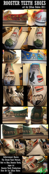 Rooster Teeth Custom Shoes by MsJillyJelly
